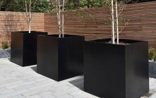 Powder-Coated Steel Planters