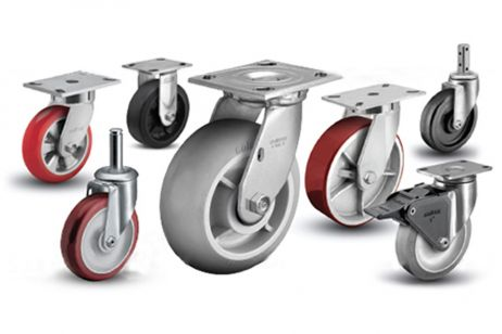Castor wheels for metal planters