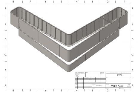 Tiered perimeter planter CAD design
