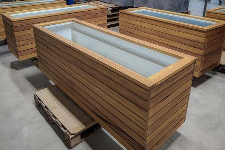 Custom hardwood planters