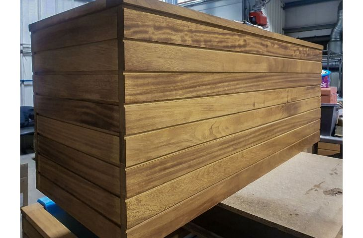 Bespoke tongue and groove timber planters