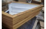Bespoke sized timber clad planters