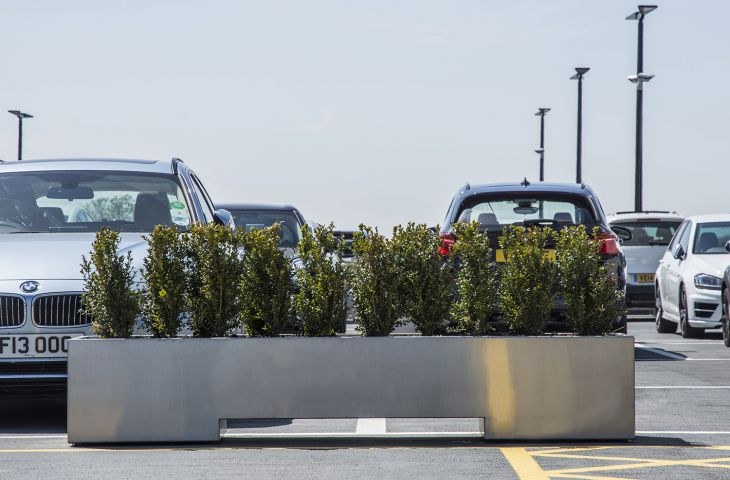 stainless steel barrier planters