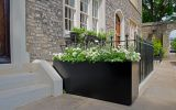 Bespoke rectangular planter in RAL 9017 (Traffic Black)