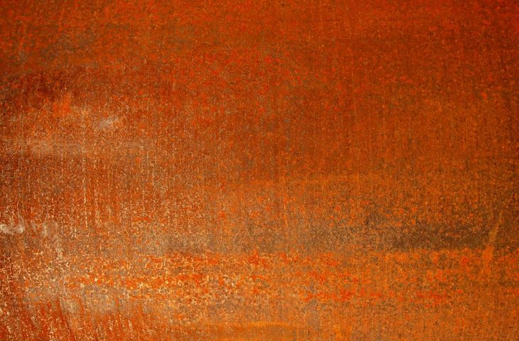 Example of weathered Corten steel