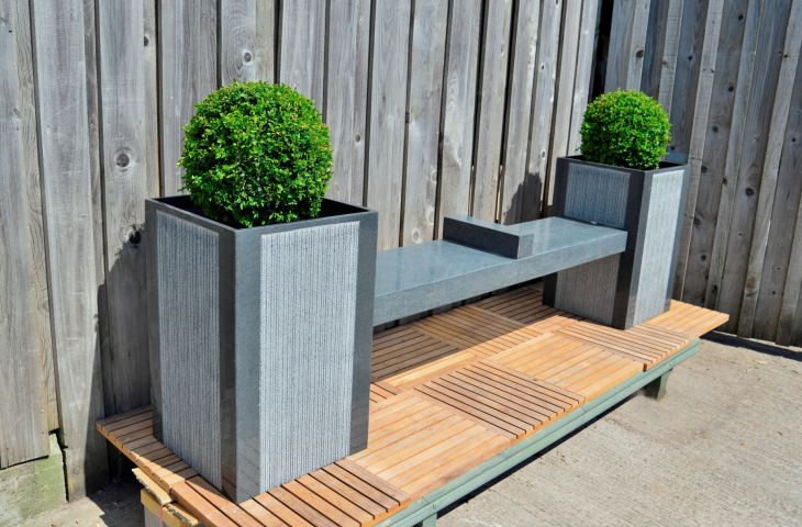 Granite Stratos Planter / Bench