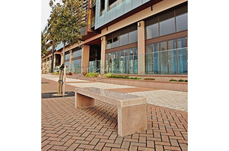 Bespoke granite benches for Castle Quay, Jersey