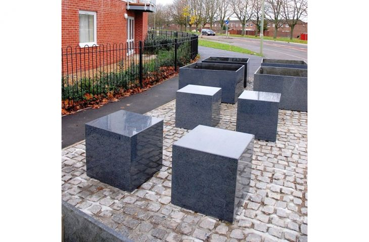 Custom granite seating for Linden Homes, Basingstoke