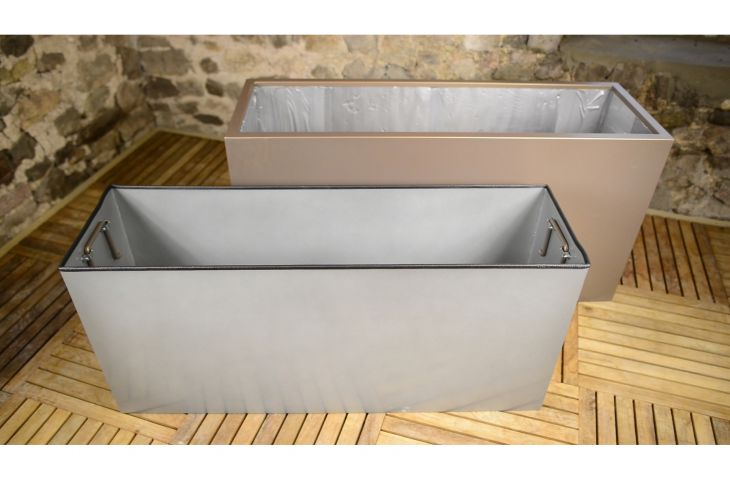 Custom options include: Galvanised liners, with or without lift-out handles