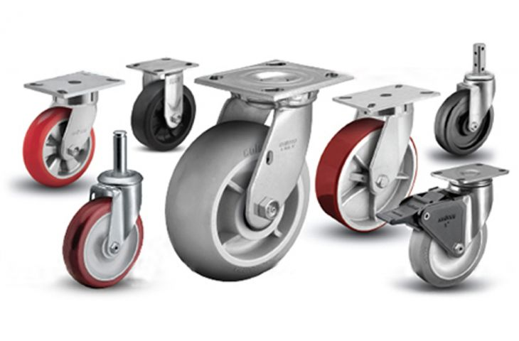 A wide range of castors are available to suit every requirement
