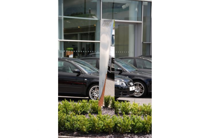 Customised Shaft of Light sculpture for Birmingham Audi, Solihull
