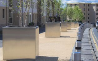 Bespoke steel tree planters for Clackmannanshire Council
