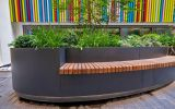 Steel seating and benches