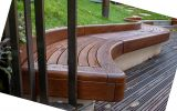 Standalone FSC hardwood seats and benches