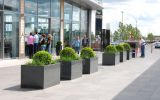 IOTA's Granite planters at The Outlet designer shopping mall