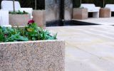 A special colour granite was specified