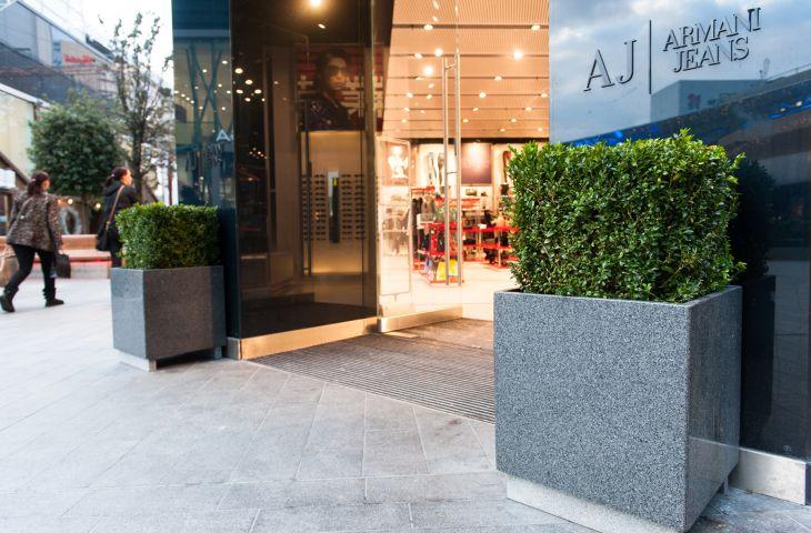 500mm granite cube planters