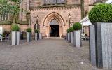 1000mm tall bespoke granite column planters for Soul Bar, Aberdeen