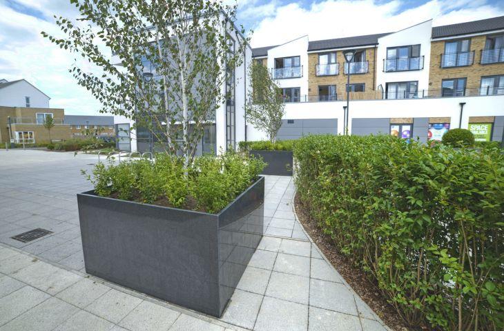 Drayton Garden Village tree planters: L 1800 x W 1800 x H 1000mm