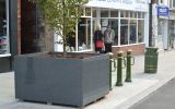 Leek, Staffordshire: Parallelogram tree planters L 1500 x W 1200 x H 900mm