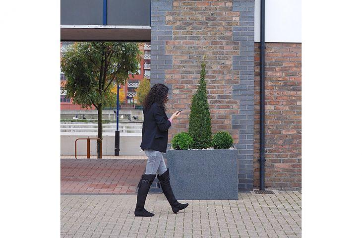Custom granite low square planter L1000 x D1000 x H700 mm