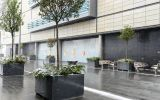 Bespoke granite planters for Westfield Stratford City, London E20