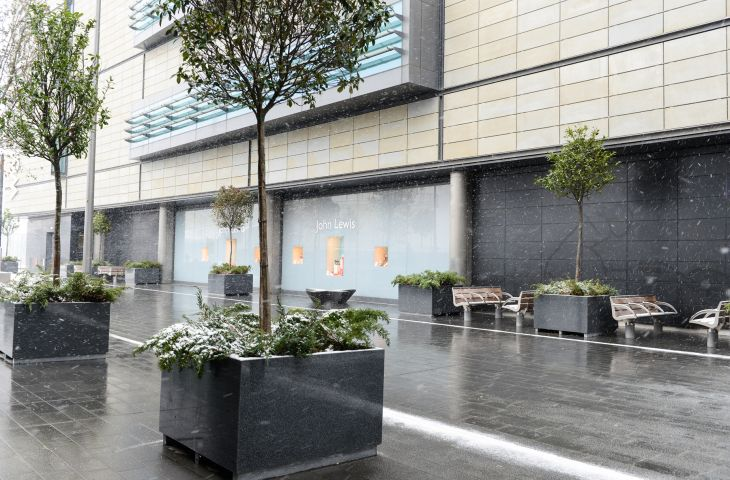 Bespoke Granite Planters For Westfield Stratford City London E20
