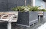L 1200 x W 1200 x H 700mm granite tree planters