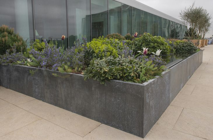 Bespoke Zinc Planters, Natural Zinc Plant Containers, Made ... on zinc planter boackround on white, zinc garden statues, zinc bowls, zinc furniture, zinc window boxes,