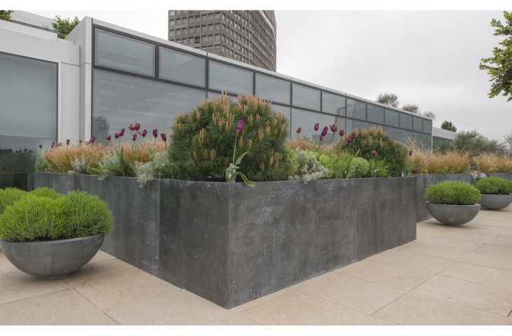 Bespoke Zinc Planters Natural Zinc Plant Containers Made