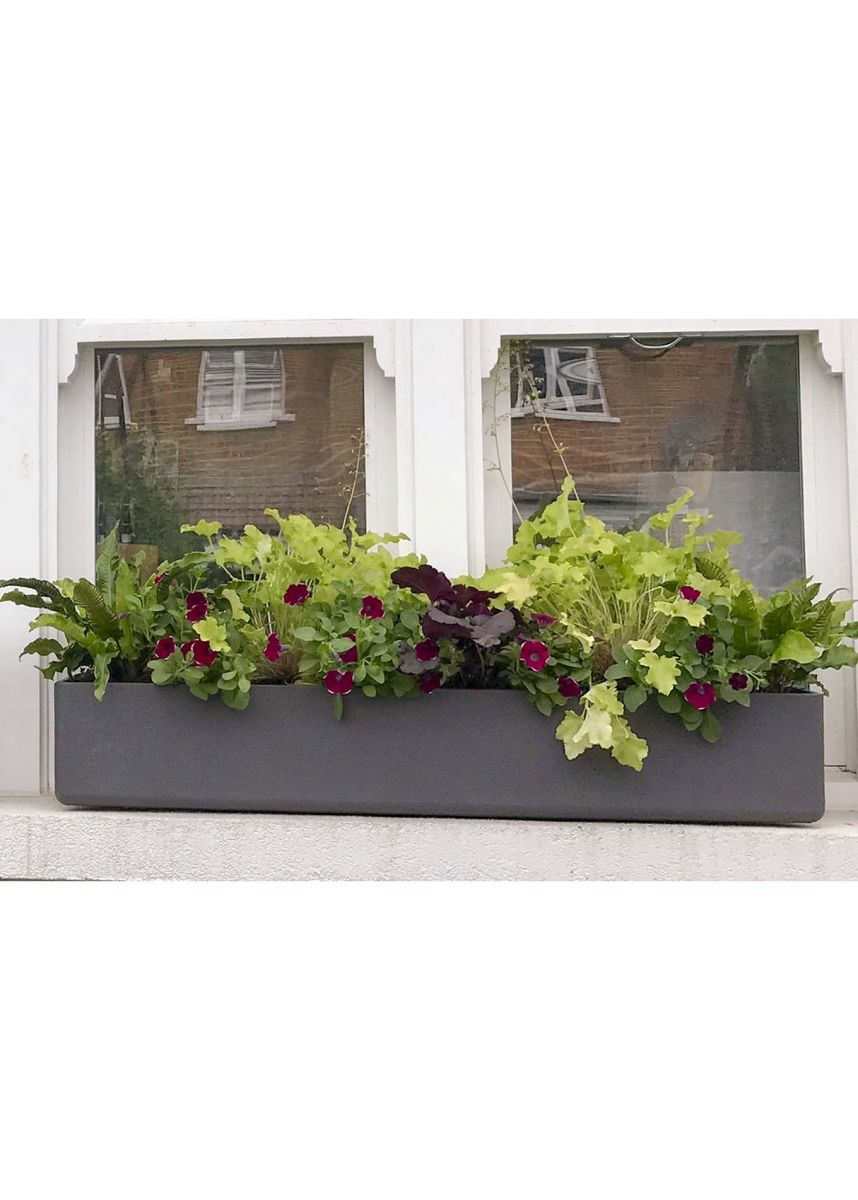 Narrow window box grey