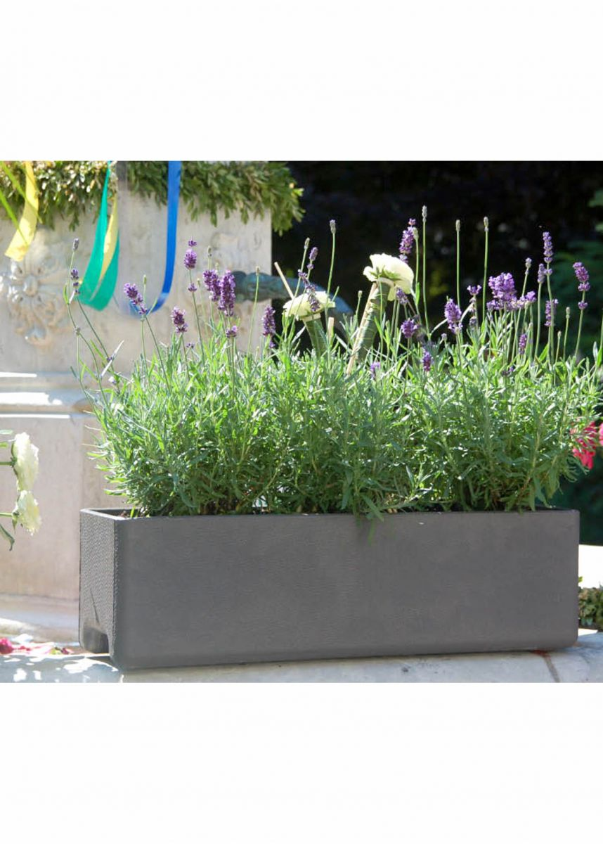 Rectangular window box planters