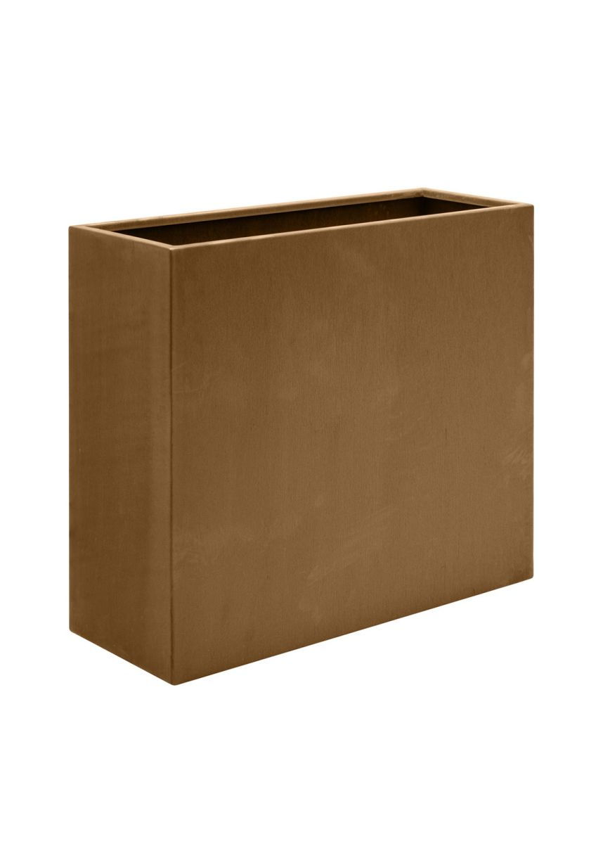 Weathered Corten Steel Tall Rectangle Planter