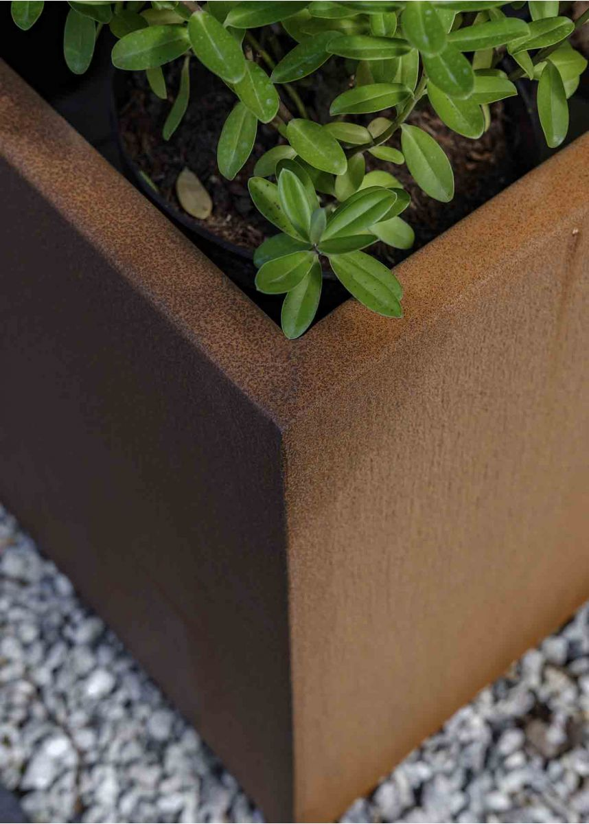 Corten Planter Box Close Up Edge