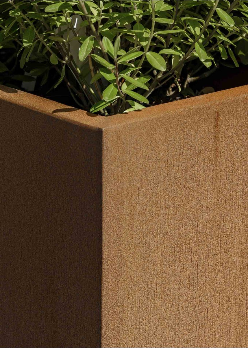 Close-up Corten Steel Planter