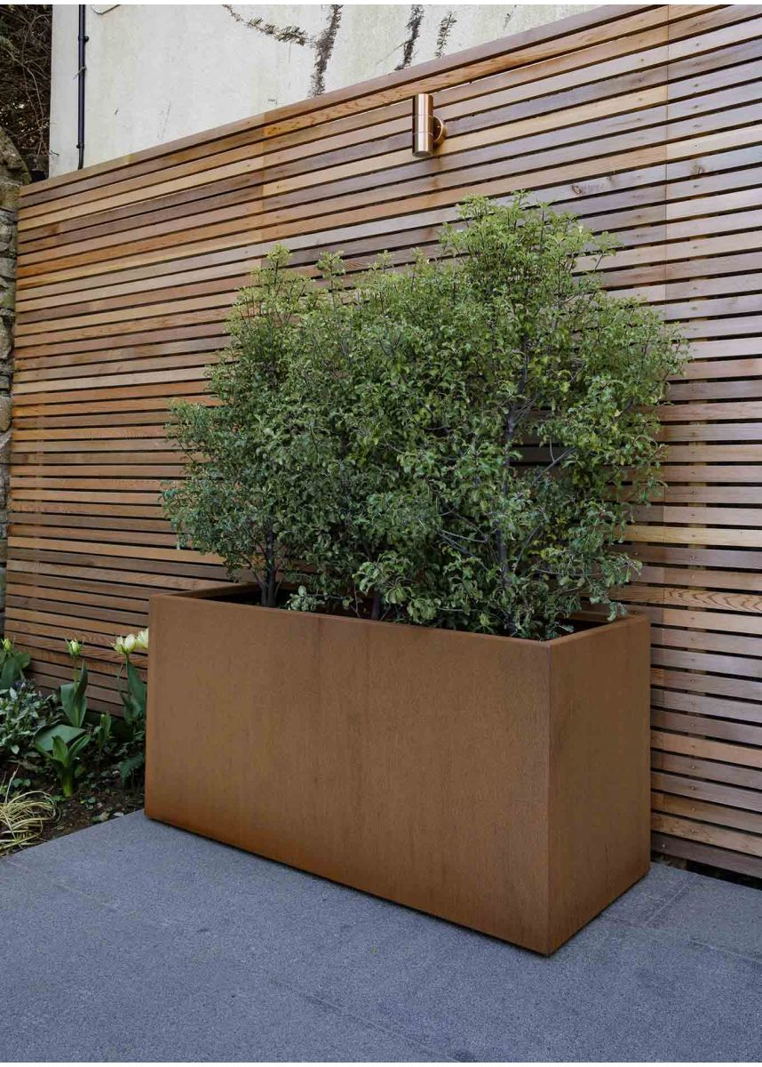 Corten Trough Planter