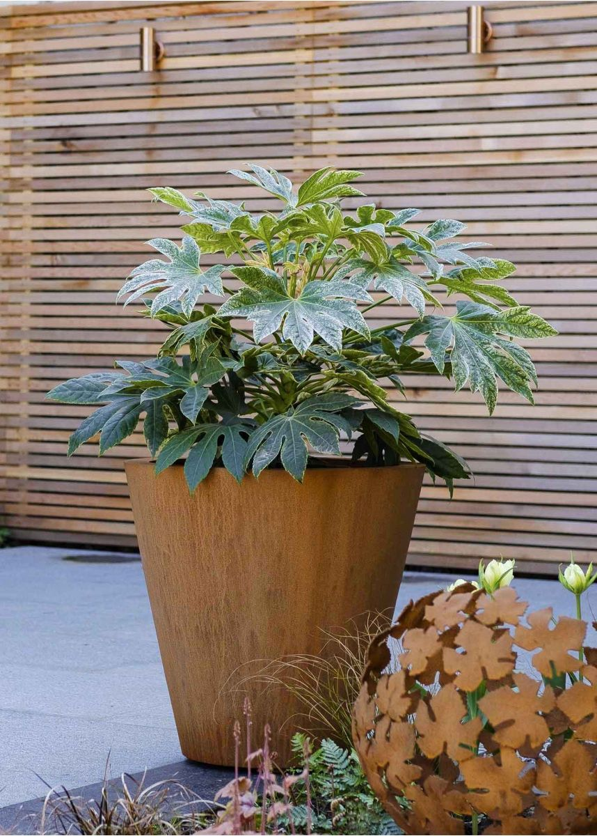Corten Conical Garden Planter