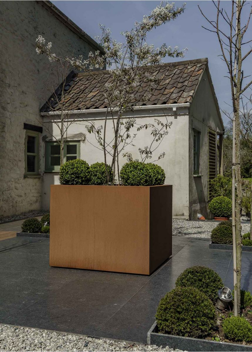 Large Square Corten Planter