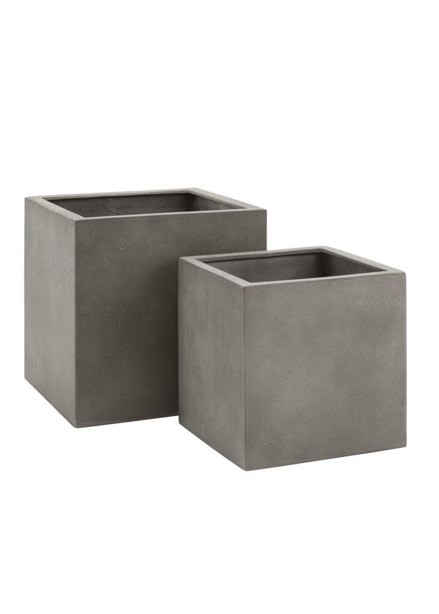 Grey Cube Garden Planter