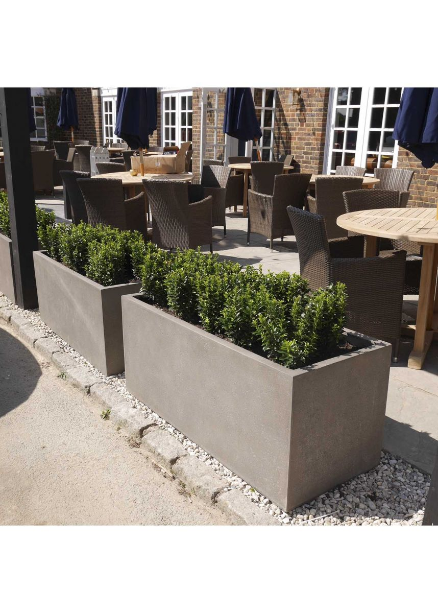 GRP Fibreglass Trough Planters