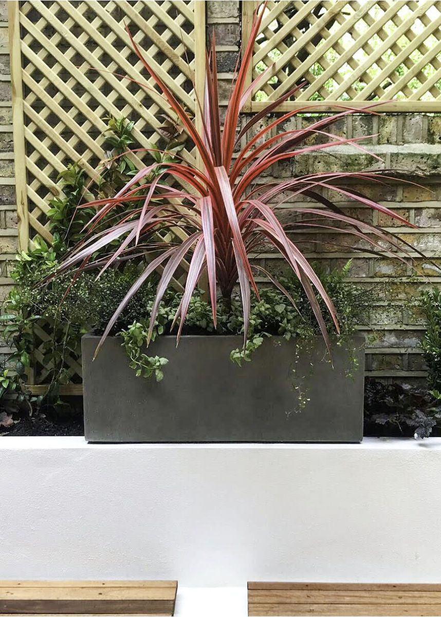 Fibreglass grey window box