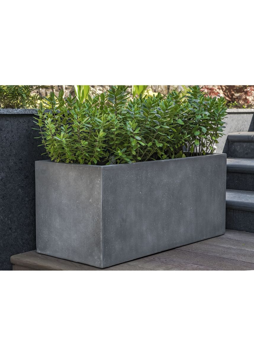 Lightweight Grey 90cm Trough Planters