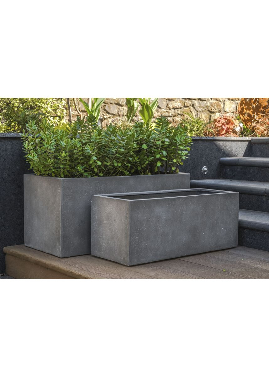 Mid-Grey Medium Garden Trough Planters