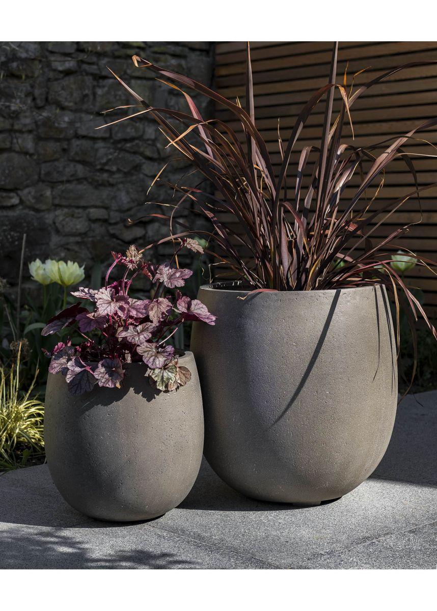 Enclave Fibreglass Round Bottom Planters