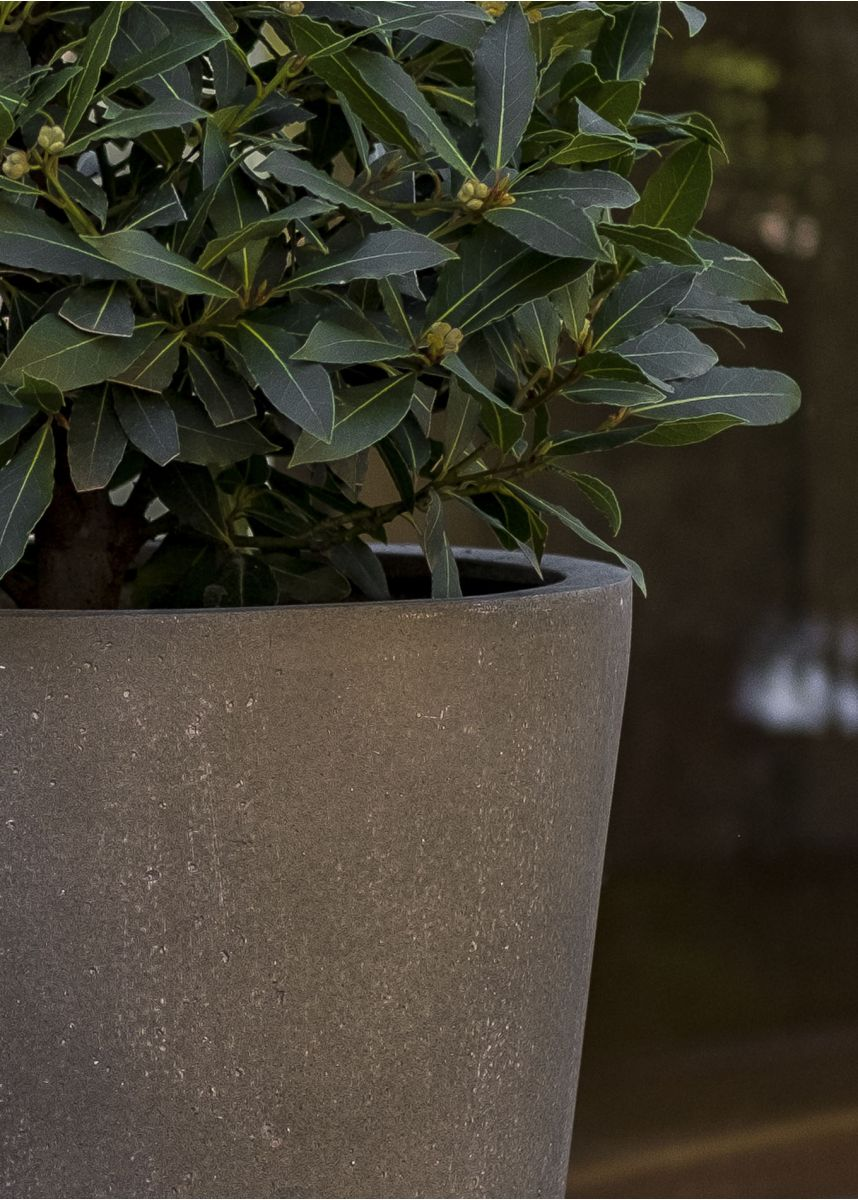 Grey Fibreglass Conical Garden Planters