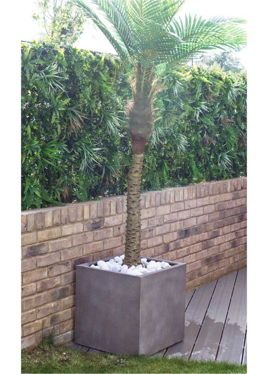 Large square tree container
