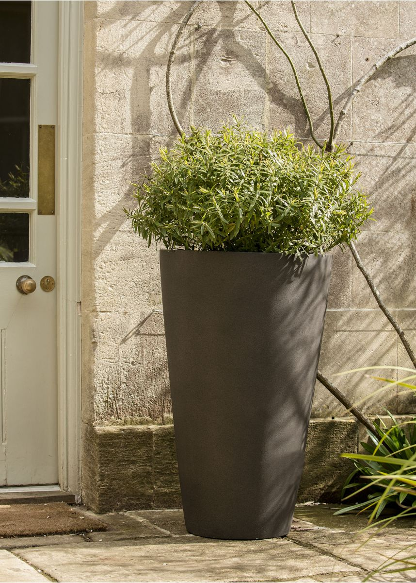 Black Brown Conical Planters