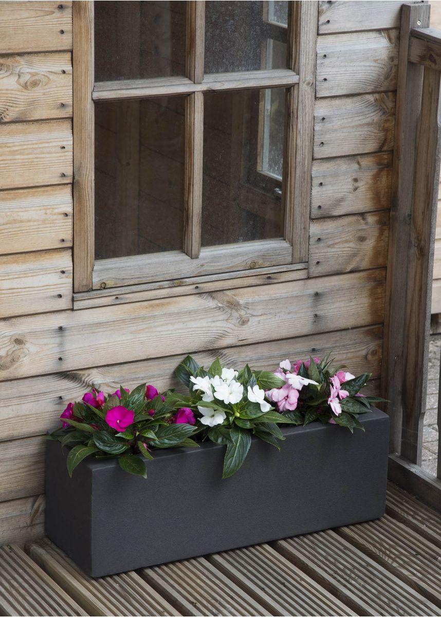 Dark Grey Window box Planter