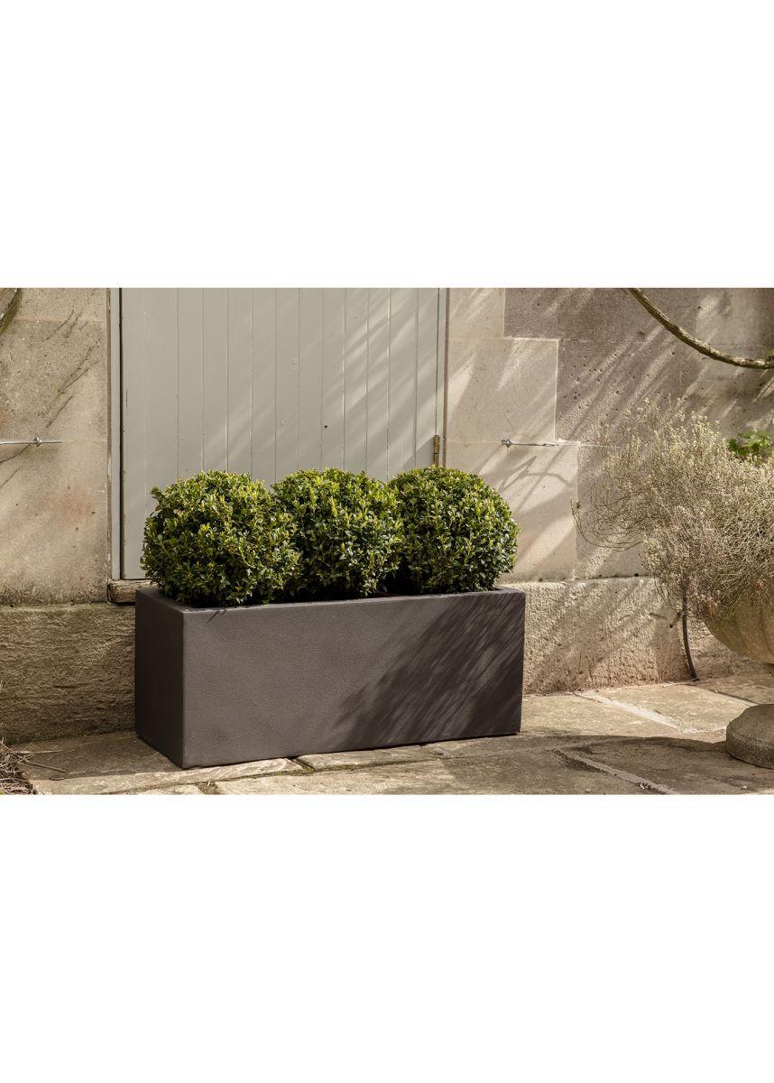 small rectangular plant pot