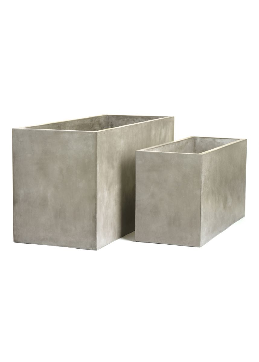 Fresco large rectangular planters